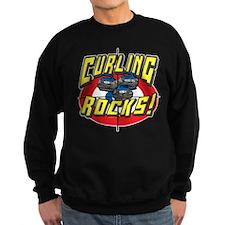 Curling Rocks Blue Sweatshirt