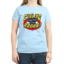 Curling Rocks Blue T-Shirt