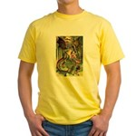 BEWARE THE JABBERWOCK Yellow T-Shirt