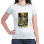 BEWARE THE JABBERWOCK Jr. Ringer T-Shirt