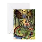 BEWARE THE JABBERWOCK Greeting Card