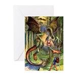 BEWARE THE JABBERWOCK Greeting Cards (Pk of 20)