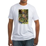 BEWARE THE JABBERWOCK Fitted T-Shirt