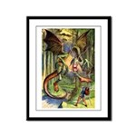 BEWARE THE JABBERWOCK Framed Panel Print