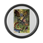 BEWARE THE JABBERWOCK Large Wall Clock