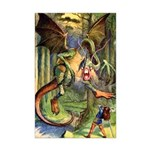BEWARE THE JABBERWOCK Mini Poster Print