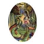 BEWARE THE JABBERWOCK Ornament (Oval)
