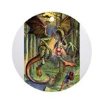 BEWARE THE JABBERWOCK Ornament (Round)