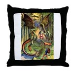 BEWARE THE JABBERWOCK Throw Pillow