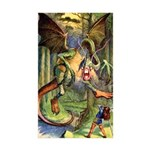 BEWARE THE JABBERWOCK Sticker (Rectangle 10 pk)