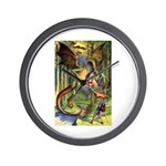 BEWARE THE JABBERWOCK Wall Clock