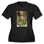 BEWARE THE JABBERWOCK Women's Plus Size V-Neck Dar