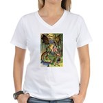 BEWARE THE JABBERWOCK Women's V-Neck T-Shirt
