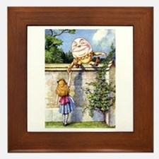 ALICE & HUMPTY DUMPTY Framed Tile