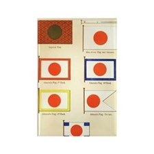 Old Japan Flags Rectangle Magnet