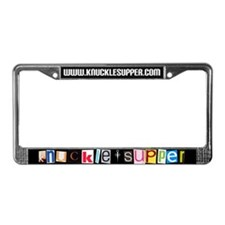 Knuckel Supper License Plate Frame