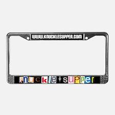 Knuckel Supper License Plate Frame