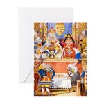 TRIAL OF THE KNAVE OF HEARTS Greeting Cards (Pk of