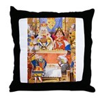 TRIAL OF THE KNAVE OF HEARTS Throw Pillow
