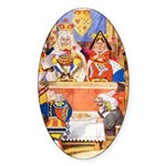 TRIAL OF THE KNAVE OF HEARTS Sticker (Oval 10 pk)