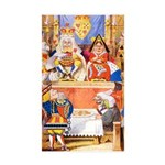 TRIAL OF THE KNAVE OF HEARTS Sticker (Rectangle 50