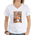 TRIAL OF THE KNAVE OF HEARTS Women's V-Neck T-Shir