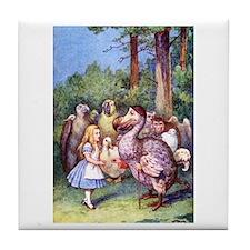 ALICE & THE DODO BIRD Tile Coaster