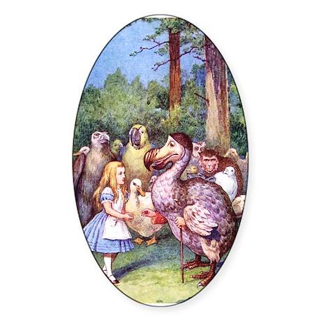 ALICE & THE DODO BIRD Sticker (Oval)