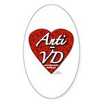 """Anti-VD"" Oval Sticker"