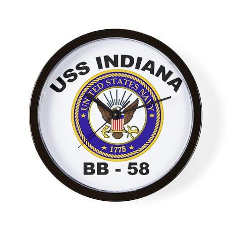 USS Indiana BB 58 Wall Clock
