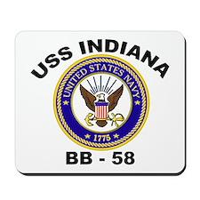 USS Indiana BB 58 Mousepad