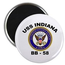 USS Indiana BB 58 Magnet