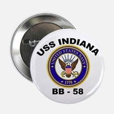 USS Indiana BB 58 Button