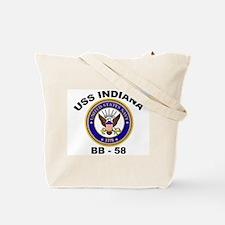 USS Indiana BB 58 Ships Image Tote Bag