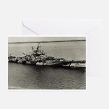 BB 58 Ships Image Greeting Cards (Pk of 10)