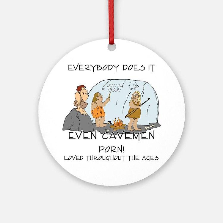 Cave Porn Ornament (Round)