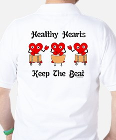 Healthy Hearts Back Image Golf Shirt