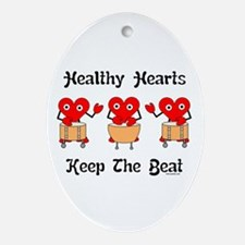Healthy Hearts Ornament (Oval)