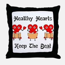 Healthy Hearts Throw Pillow