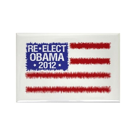Re-Elect Obama 2012 Rectangle Magnet