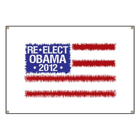 Re-Elect Obama 2012 Banner