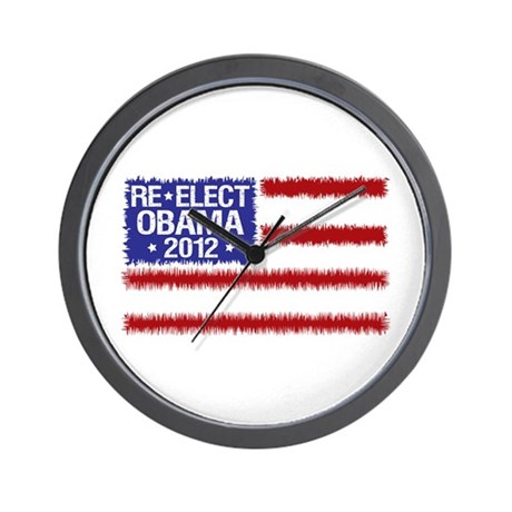 Re-Elect Obama 2012 Wall Clock