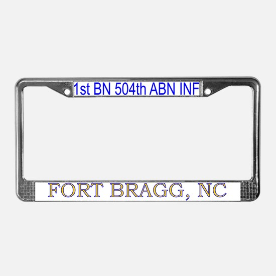 1st Bn 504th ABN Inf License Plate Frame