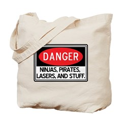 Pirates, Lasers, Ninjas, and Tote Bag