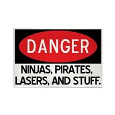 Pirates, Lasers, Ninjas, and Rectangle Magnet