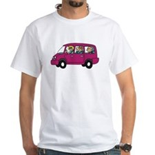 Carpool White T-Shirt