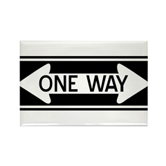 One Way Rectangle Magnet