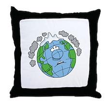Earth Blues Throw Pillow