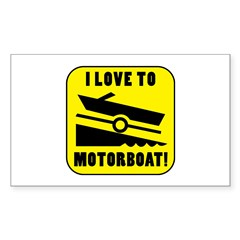 I Love To Motorboat! Decal