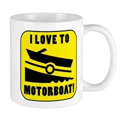 I Love To Motorboat! Mug
